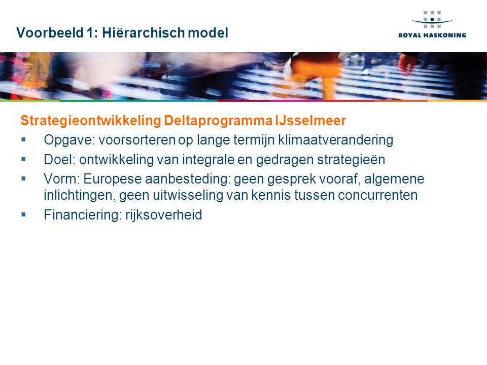 Voorbeeld 1: Hiërarchisch model