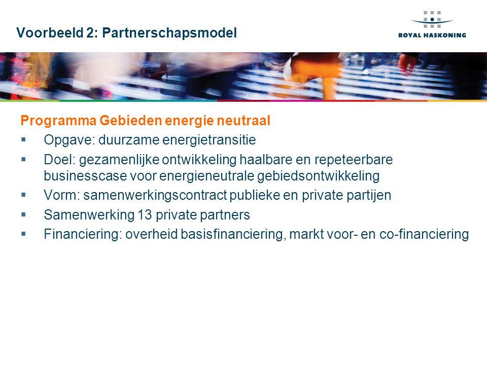 Voorbeeld 2: Partnerschapsmodel