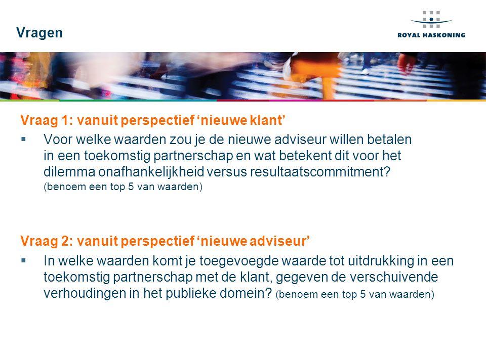 Vragen Vraag 1: vanuit perspectief 'nieuwe klant'