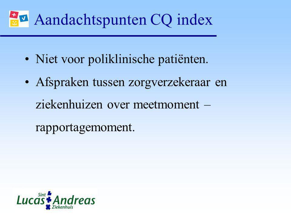 Aandachtspunten CQ index