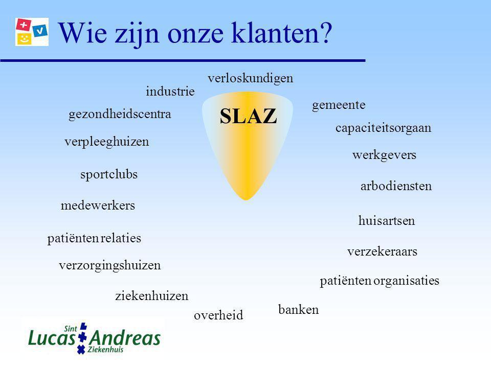 Wie zijn onze klanten SLAZ verloskundigen industrie gemeente