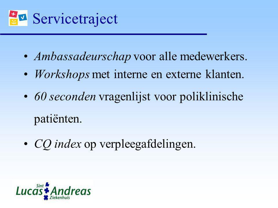 Servicetraject Ambassadeurschap voor alle medewerkers.