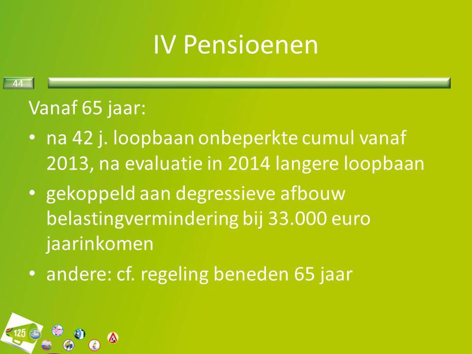 IV Pensioenen Vanaf 65 jaar: