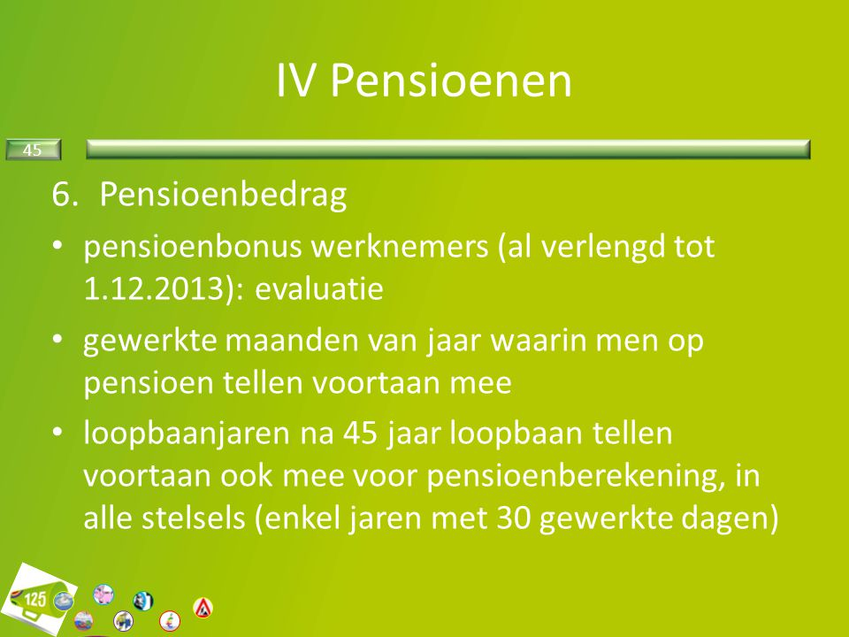 IV Pensioenen Pensioenbedrag