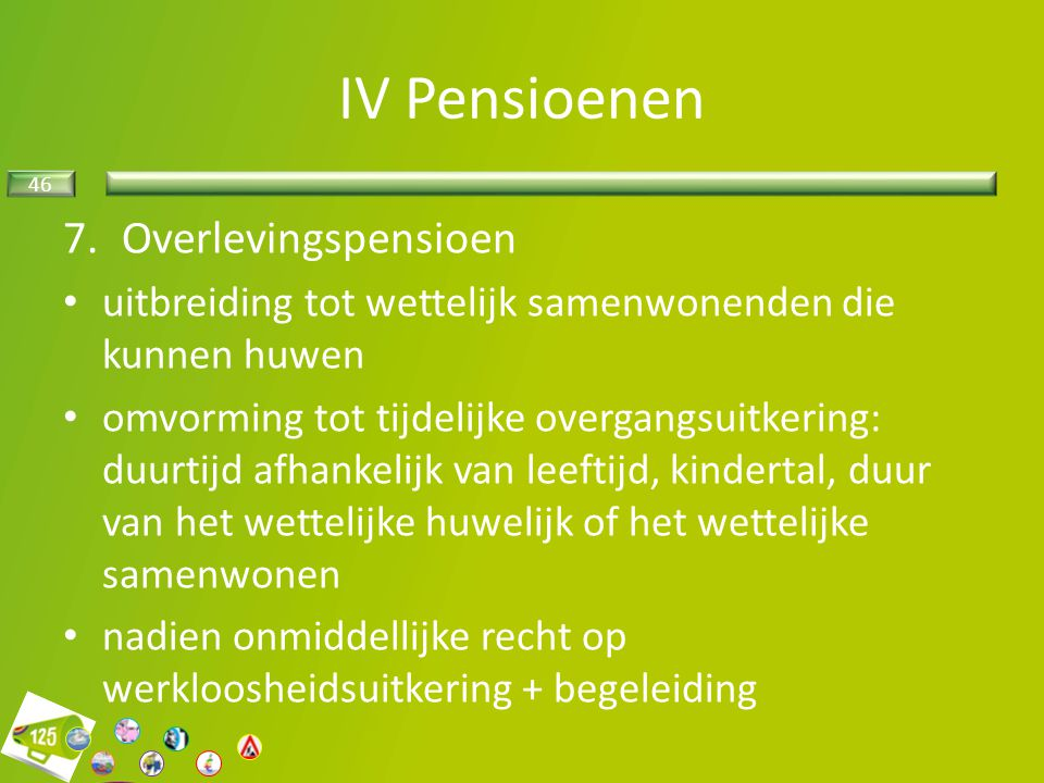 IV Pensioenen Overlevingspensioen