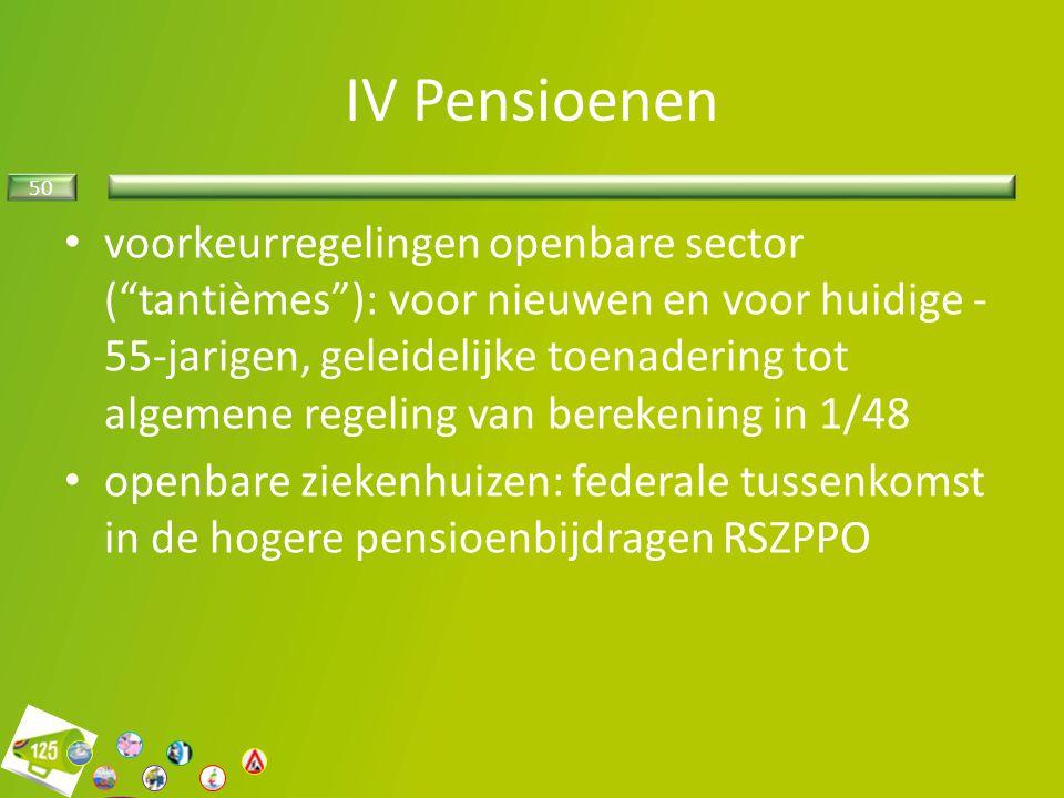 IV Pensioenen
