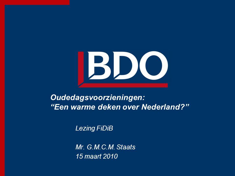 Oudedagsvoorzieningen: Een warme deken over Nederland
