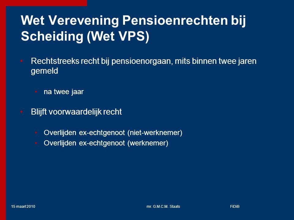 Wet Verevening Pensioenrechten bij Scheiding (Wet VPS)