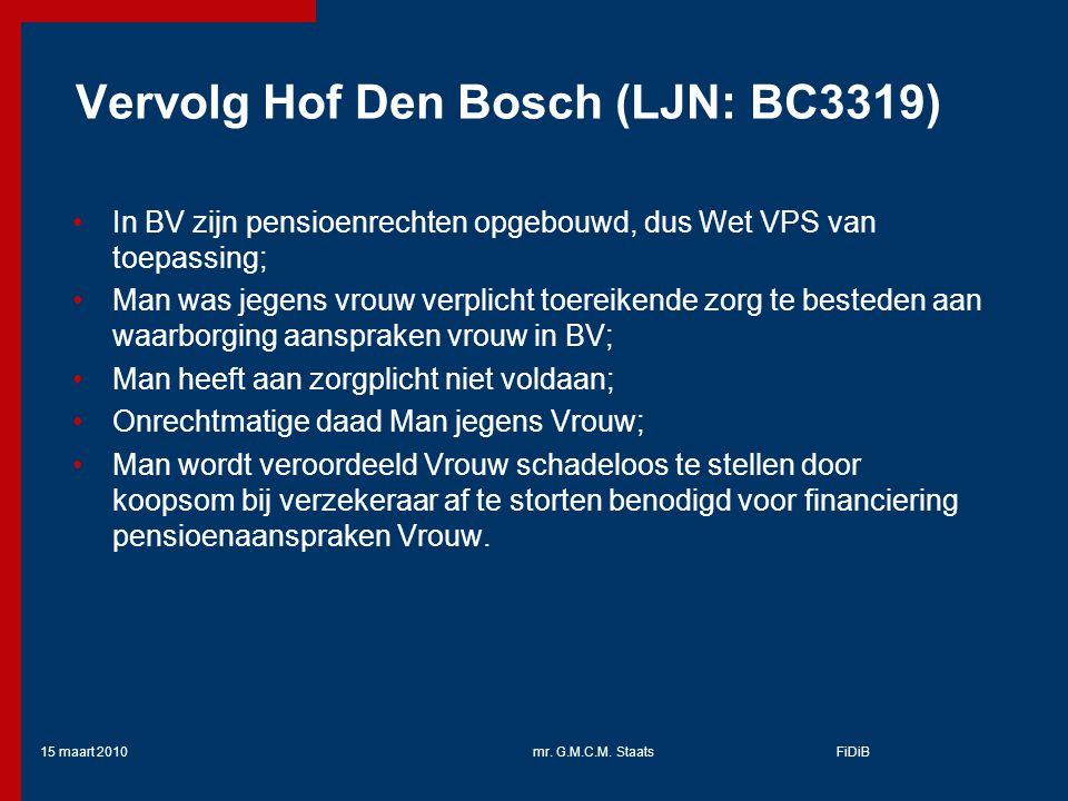 Vervolg Hof Den Bosch (LJN: BC3319)