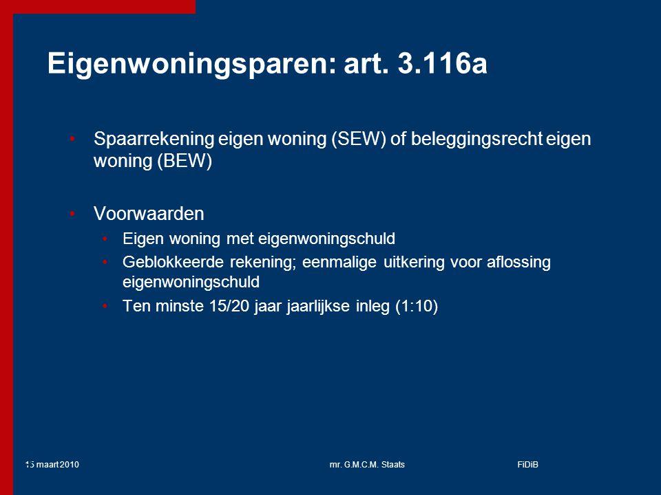 Eigenwoningsparen: art. 3.116a