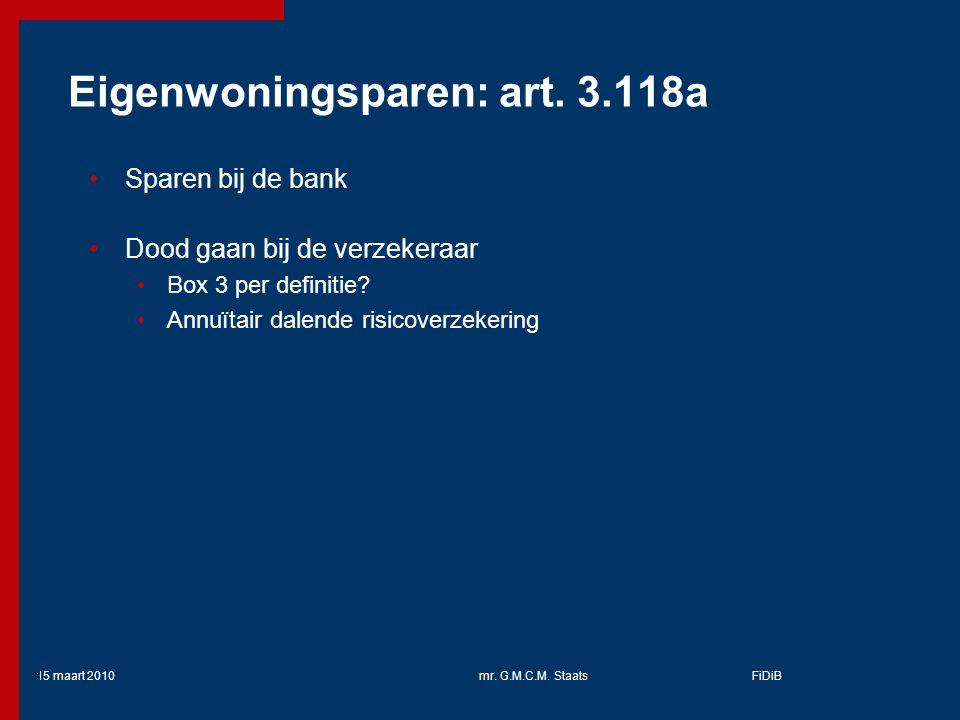 Eigenwoningsparen: art. 3.118a