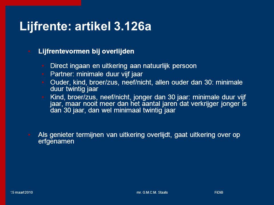 Lijfrente: artikel 3.126a Lijfrentevormen bij overlijden