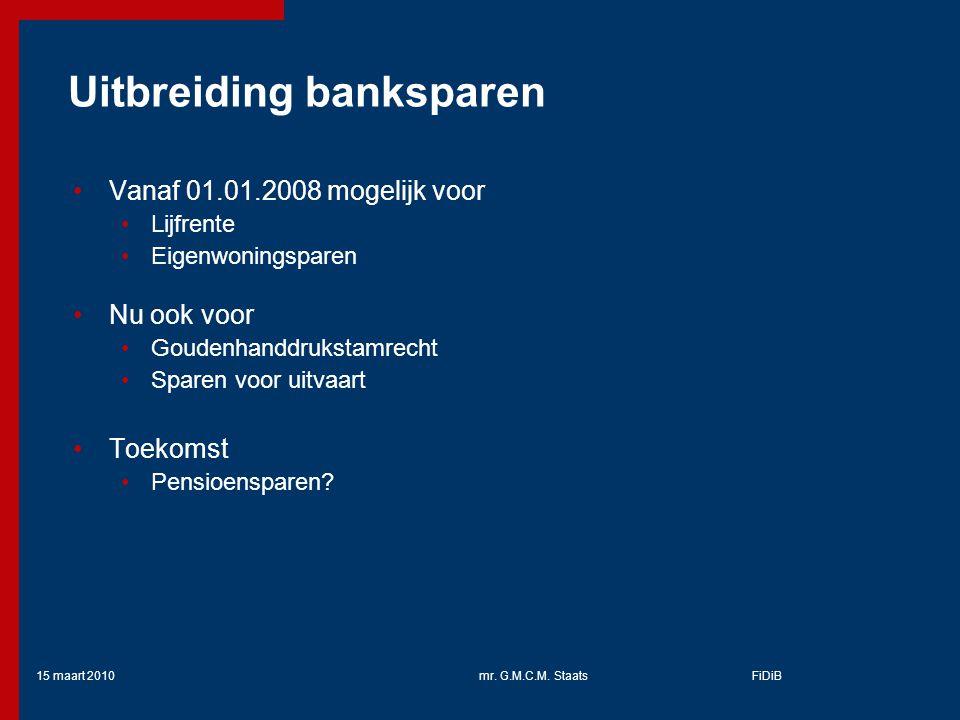 Uitbreiding banksparen
