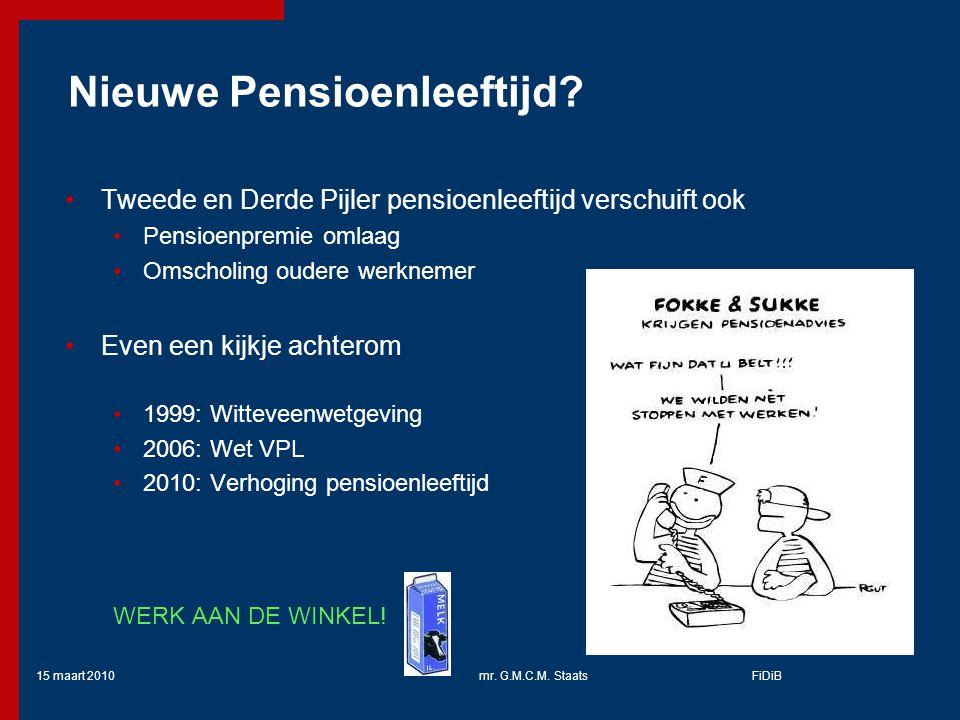 Nieuwe Pensioenleeftijd