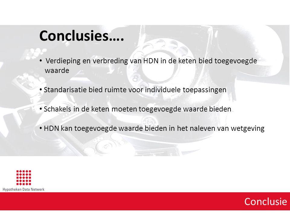 Conclusies…. Conclusie