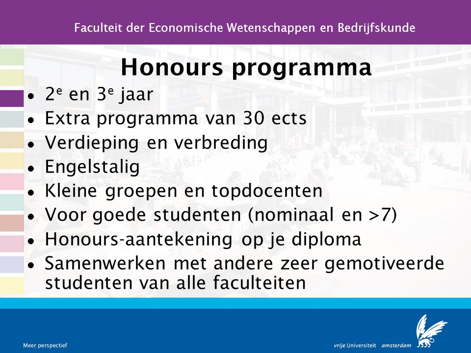 Faculteit der Economische Wetenschappen en Bedrijfskunde