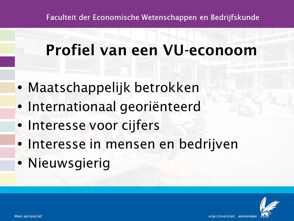 Profiel van een VU-econoom