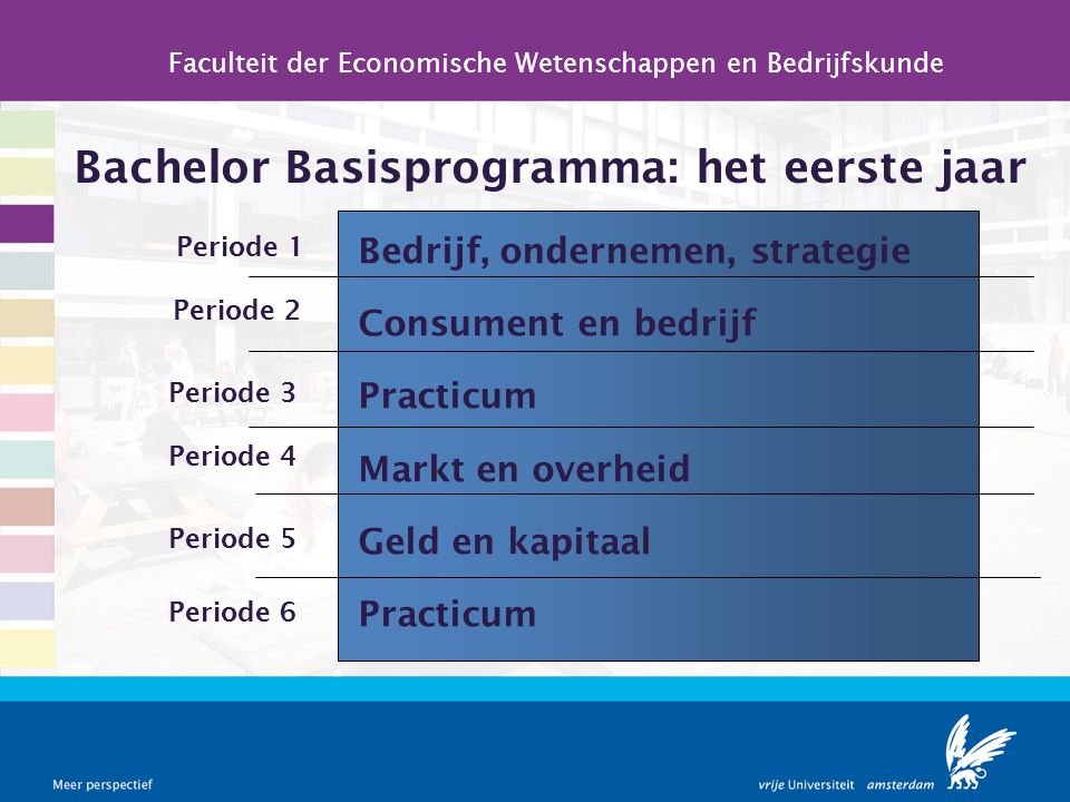 Bachelor Basisprogramma: het eerste jaar