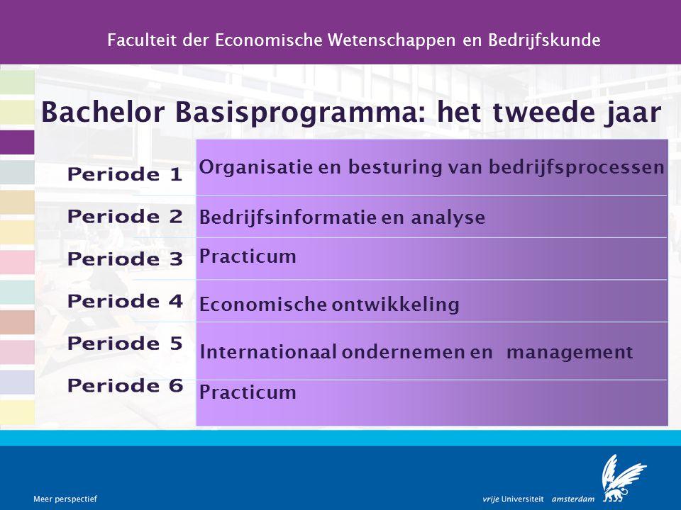 Bachelor Basisprogramma: het tweede jaar