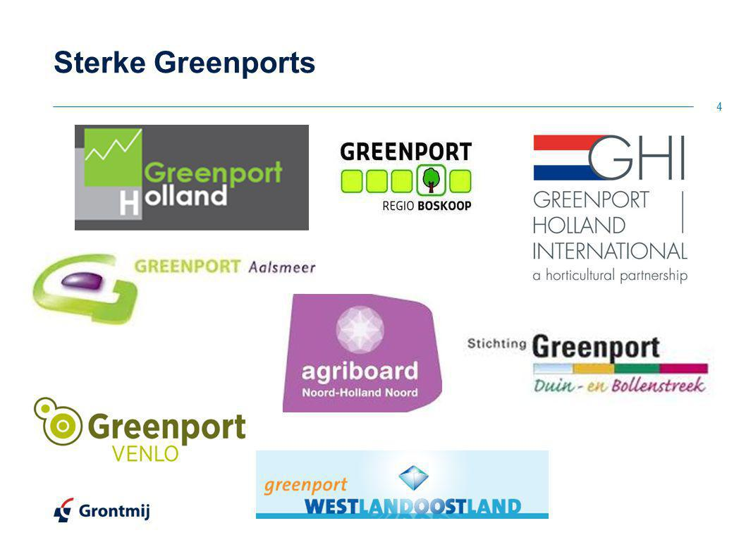 Sterke Greenports 1) Ook Alton maakt onderdeel uit van een sterke sector met clustering in de greenports.