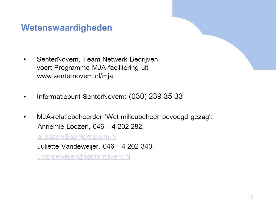 Wetenswaardigheden SenterNovem, Team Netwerk Bedrijven voert Programma MJA-facilitering uit www.senternovem.nl/mja.