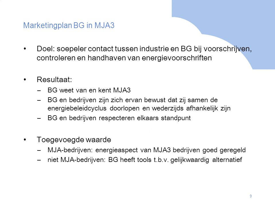 Marketingplan BG in MJA3