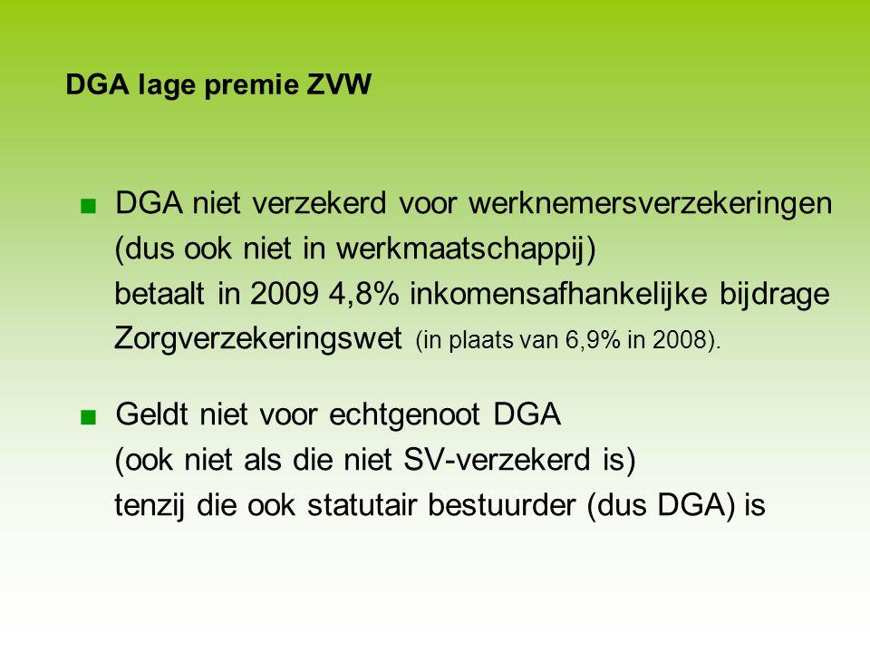DGA niet verzekerd voor werknemersverzekeringen
