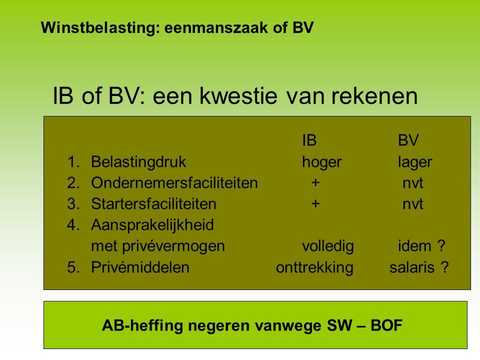Winstbelasting: eenmanszaak of BV