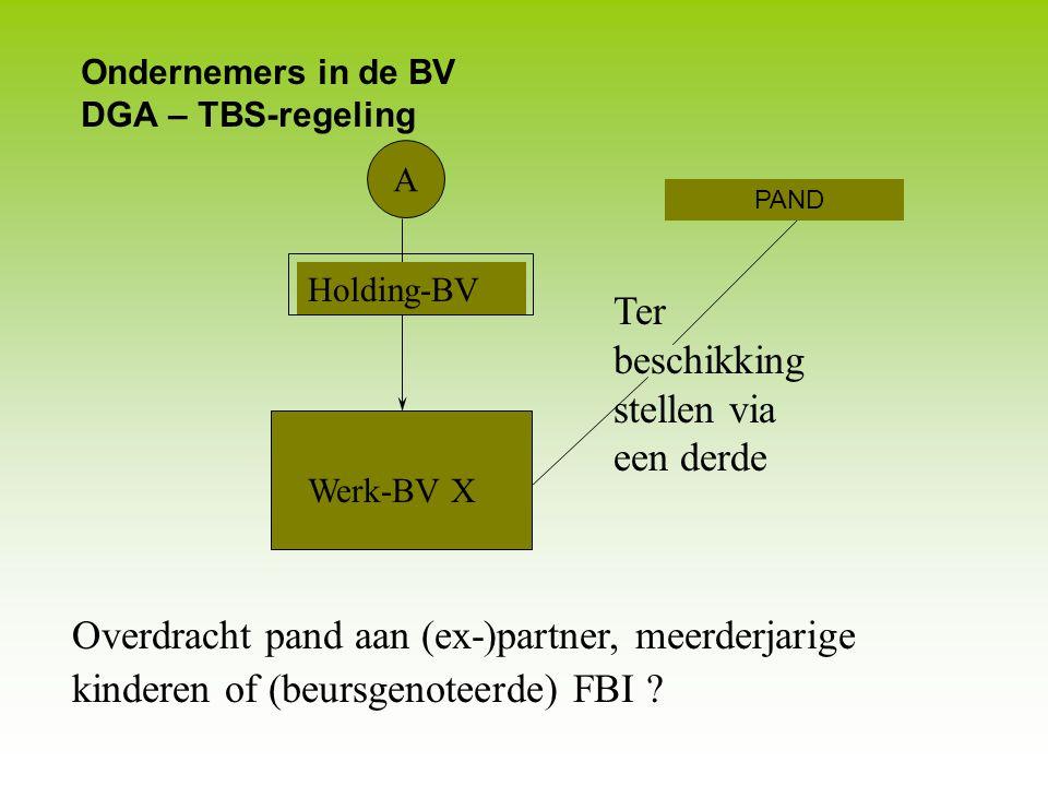 Ondernemers in de BV DGA – TBS-regeling