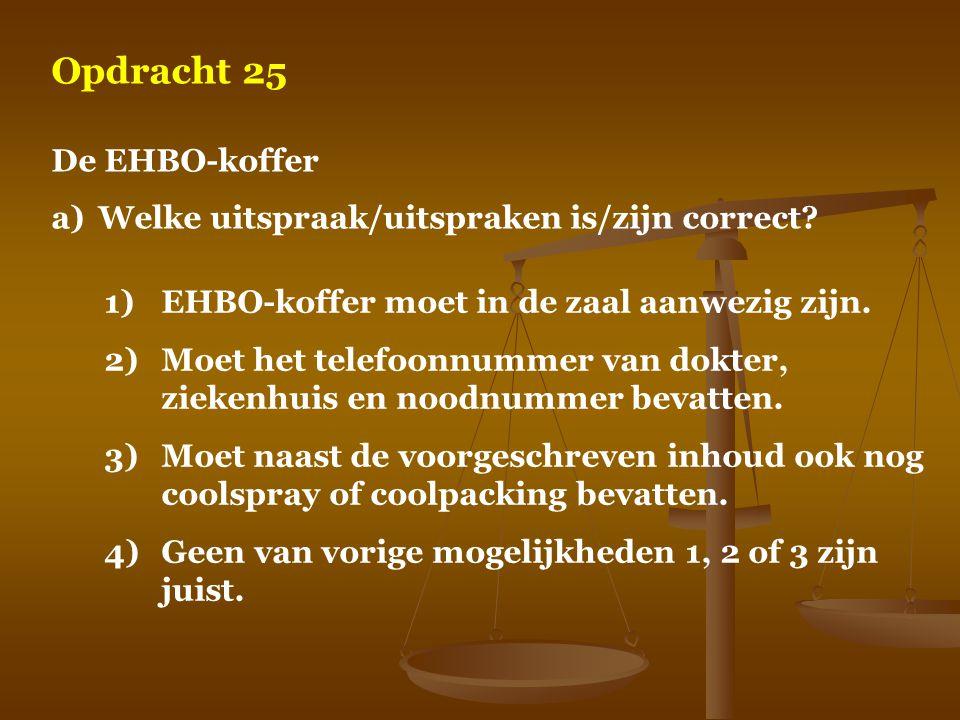Opdracht 25 De EHBO-koffer
