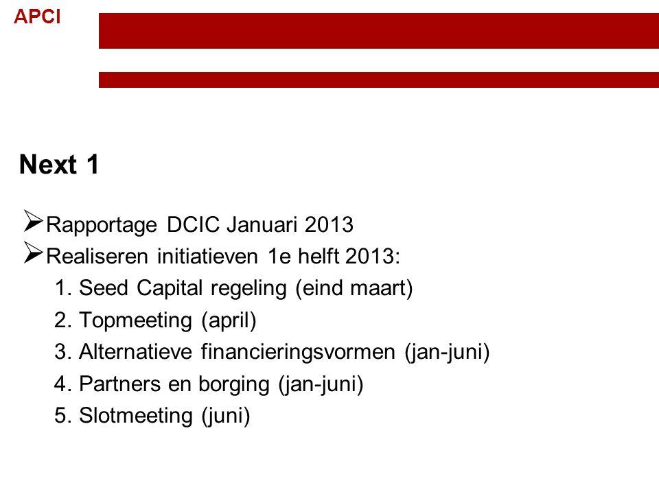 Next 1 Rapportage DCIC Januari 2013