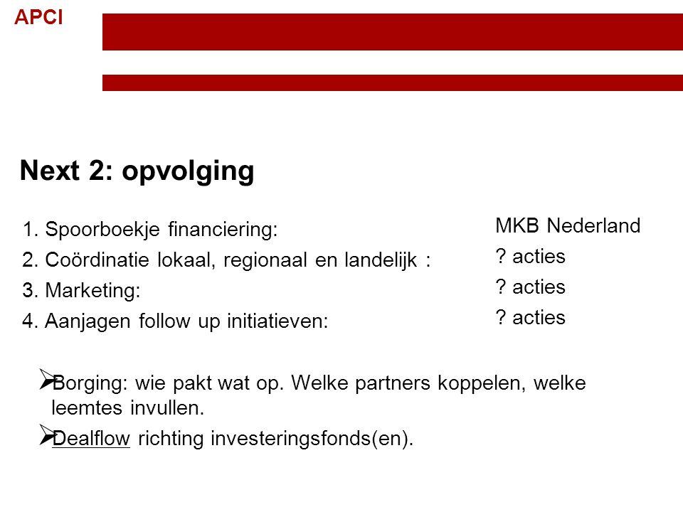 Next 2: opvolging Spoorboekje financiering: MKB Nederland