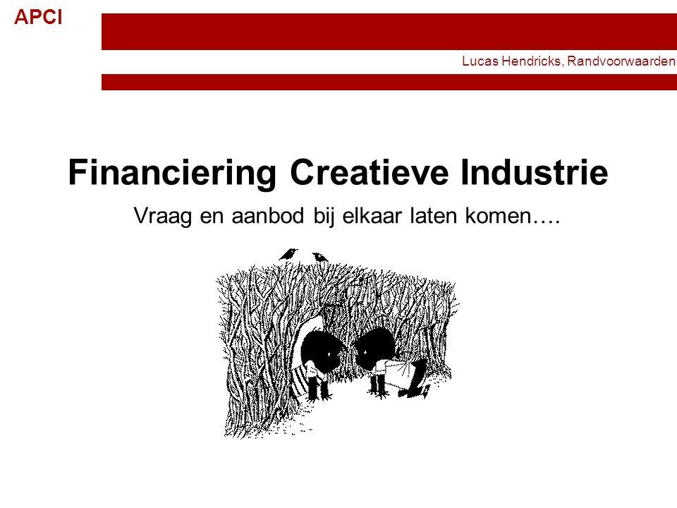 Financiering Creatieve Industrie
