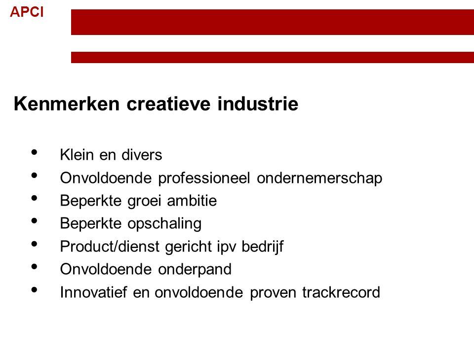 Kenmerken creatieve industrie