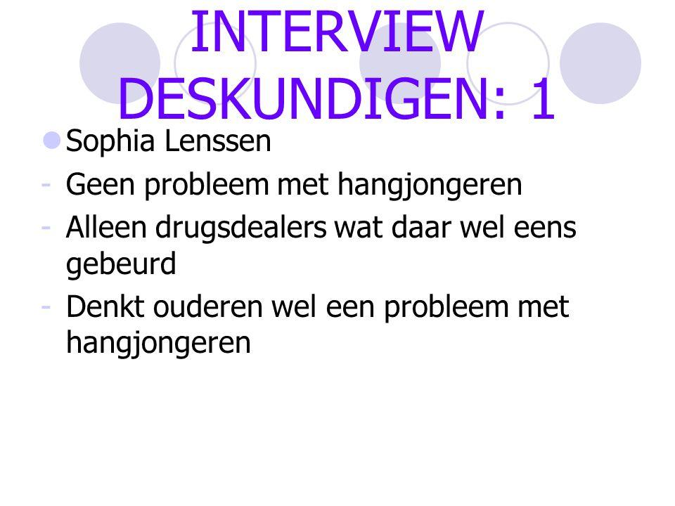 INTERVIEW DESKUNDIGEN: 1