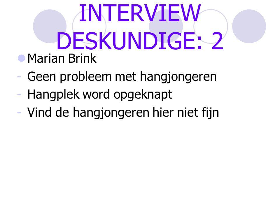 INTERVIEW DESKUNDIGE: 2