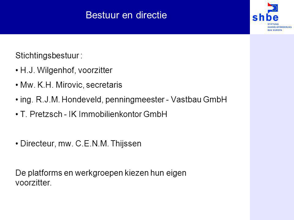 Bestuur en directie Stichtingsbestuur : H.J. Wilgenhof, voorzitter