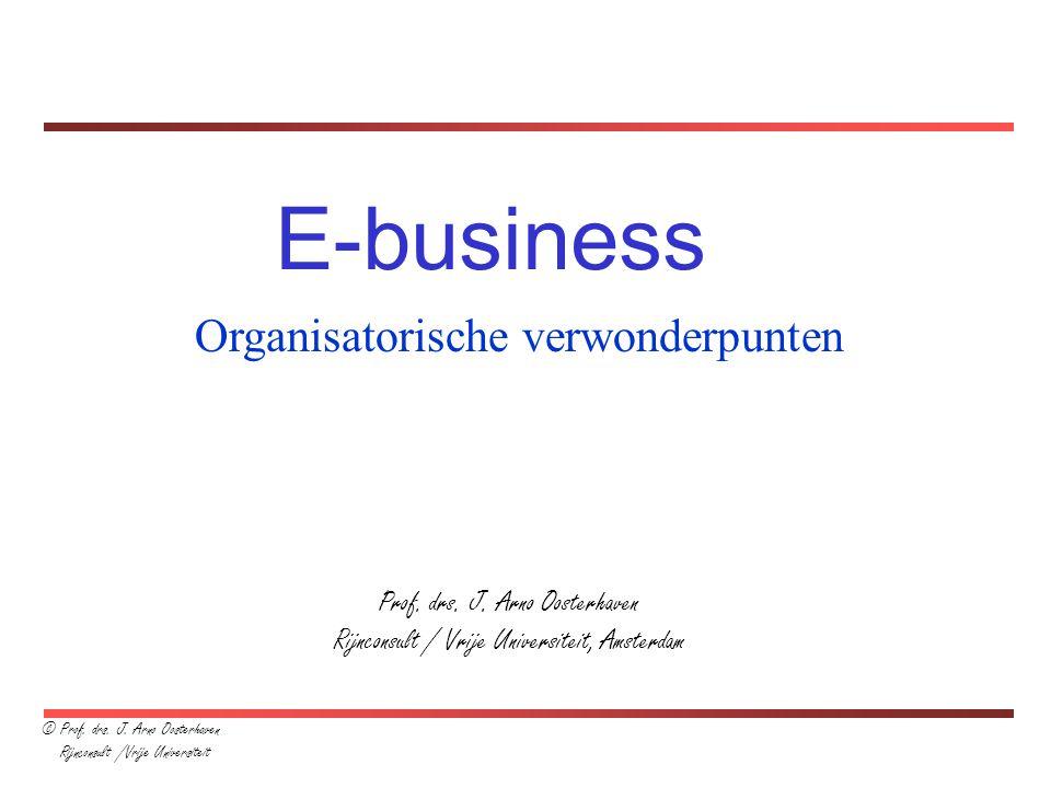 E-business Organisatorische verwonderpunten