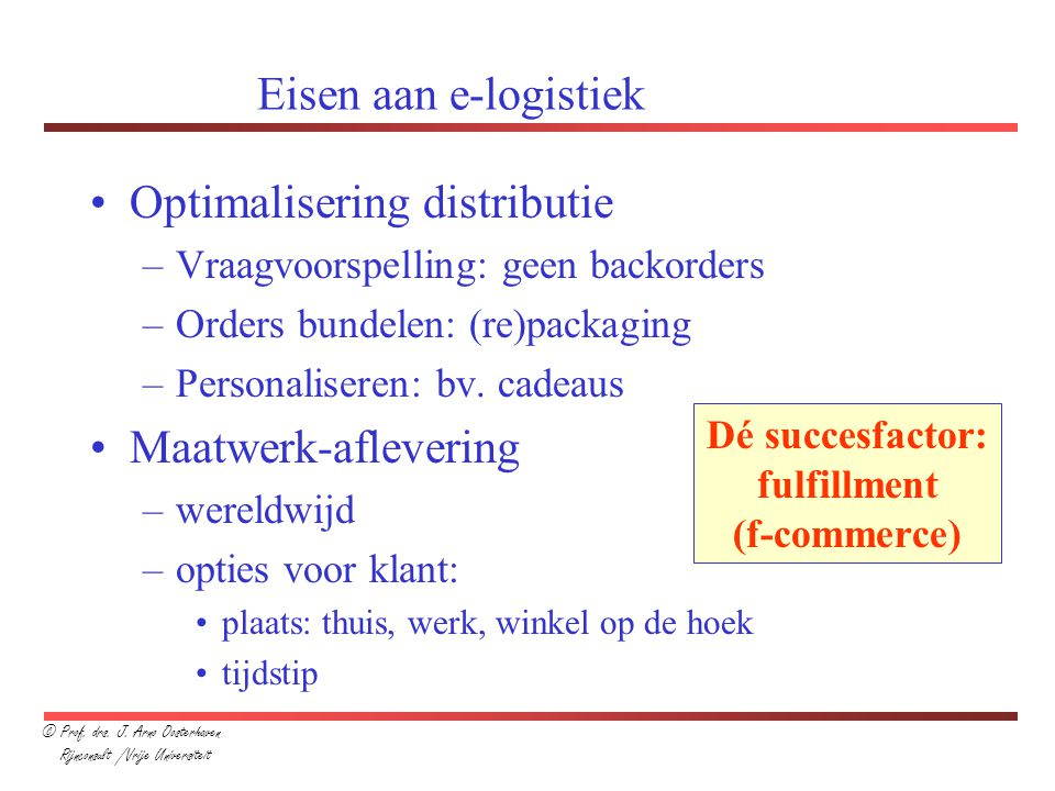 Optimalisering distributie