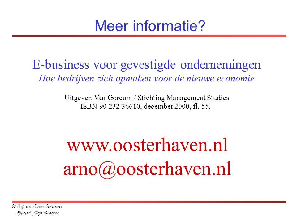 www.oosterhaven.nl arno@oosterhaven.nl Meer informatie