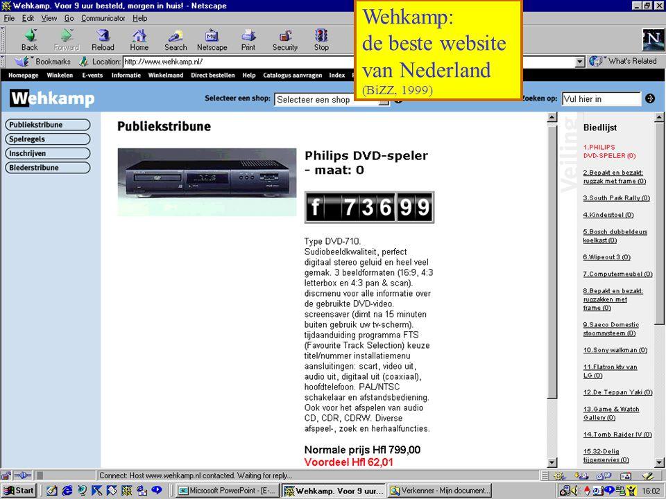 Wehkamp: de beste website van Nederland (BiZZ, 1999)