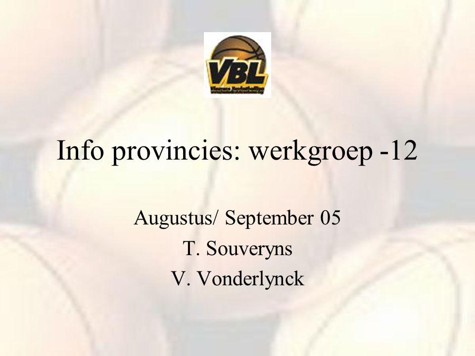Info provincies: werkgroep -12