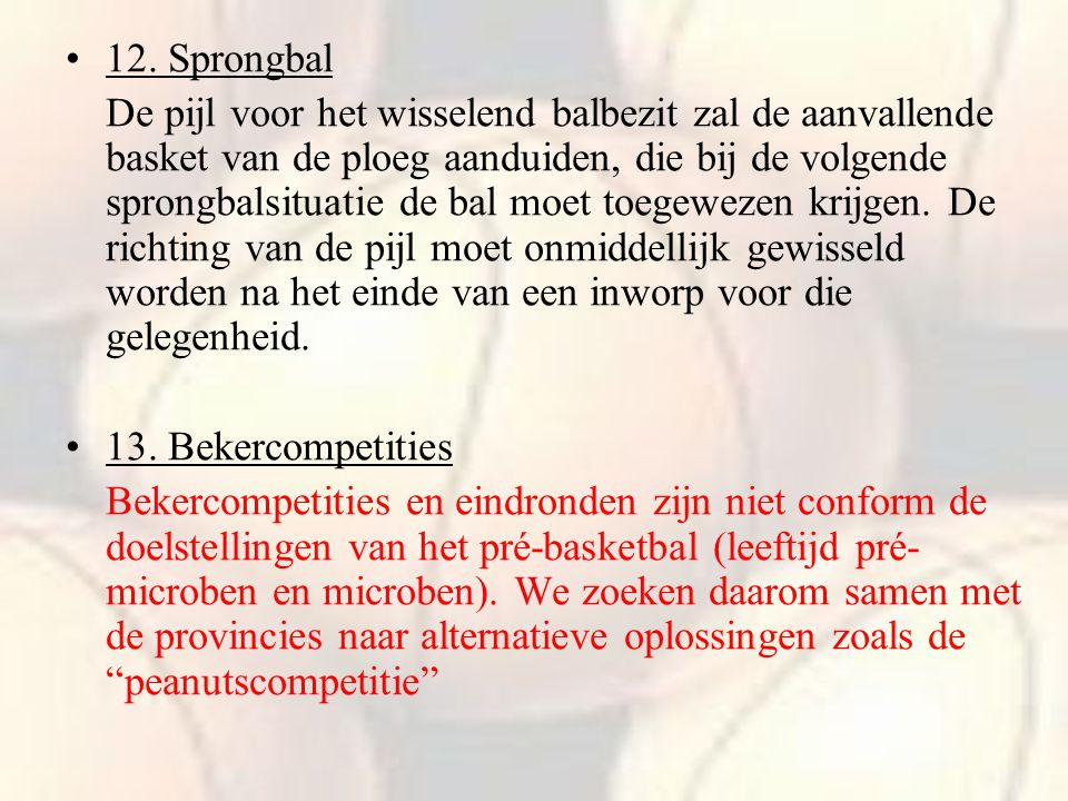 12. Sprongbal