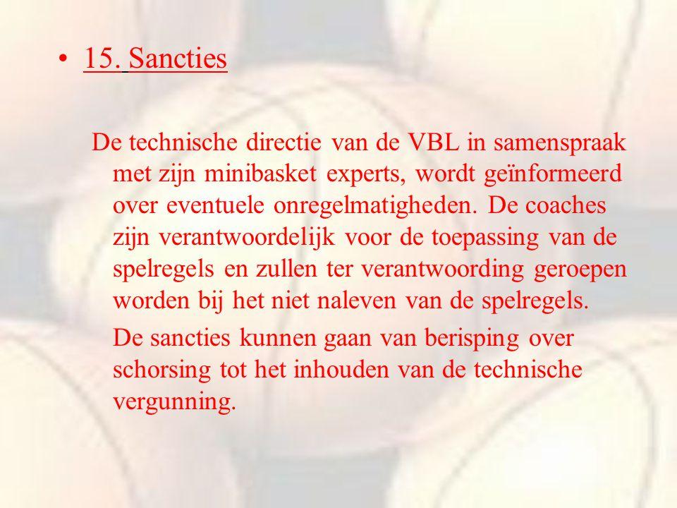 15. Sancties