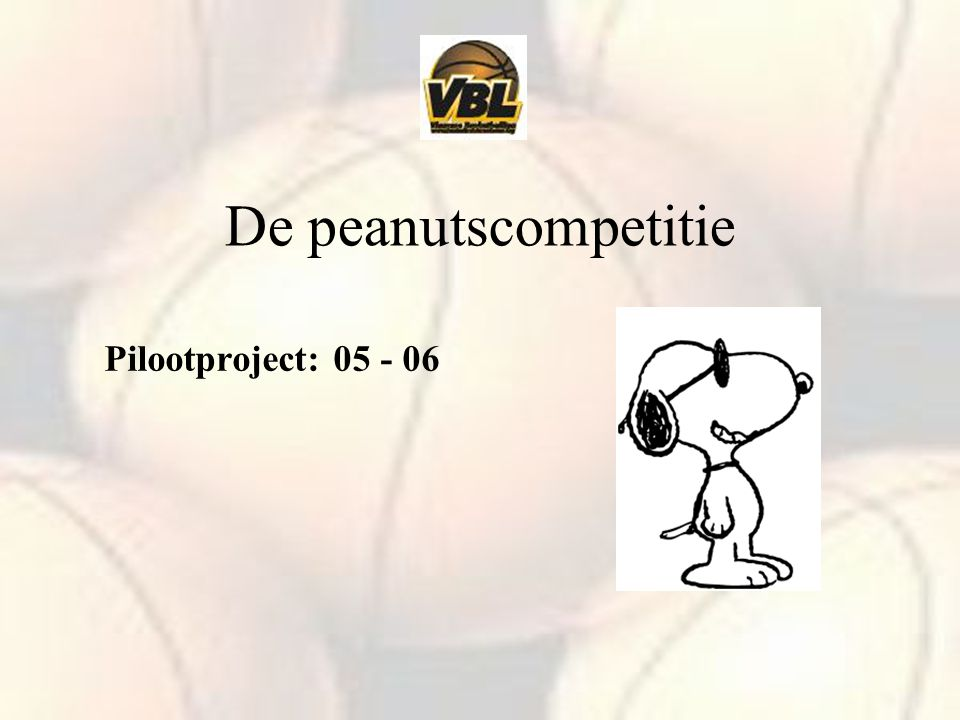 De peanutscompetitie Pilootproject:
