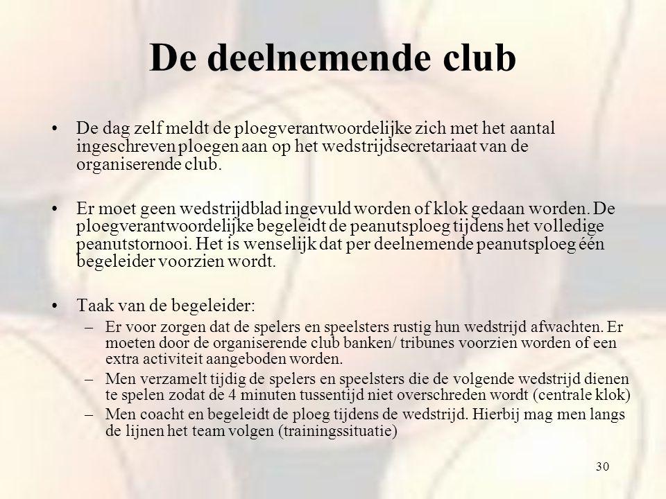 De deelnemende club