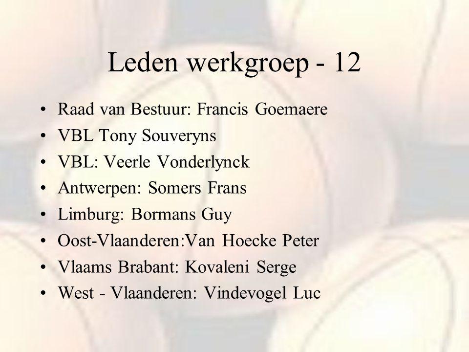 Leden werkgroep - 12 Raad van Bestuur: Francis Goemaere