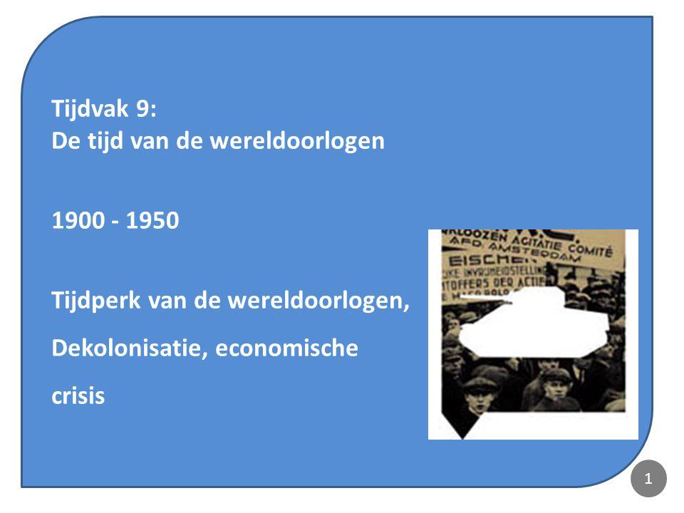 De tijd van de wereldoorlogen 1900 - 1950