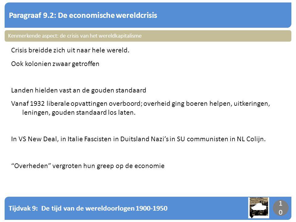 Paragraaf 9.2: De economische wereldcrisis
