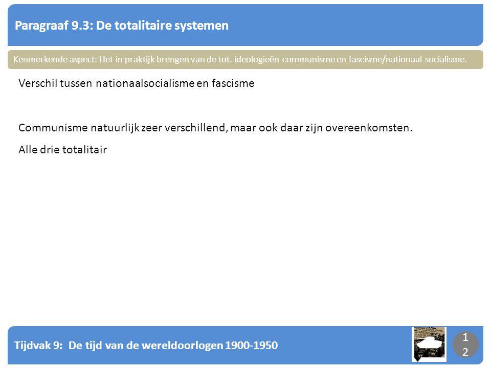Paragraaf 9.3: De totalitaire systemen